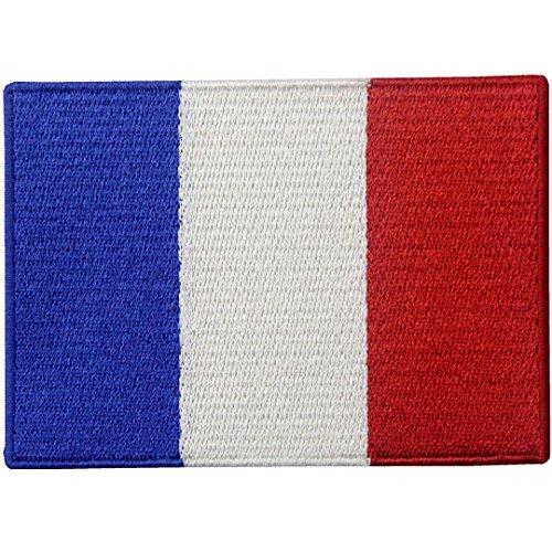 Frankreich Flagge Französisches Nationales Emblem Bestickter Aufnäher zum Aufbügeln/Annähen