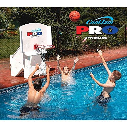 Swimline Cool Jam Pro Poolside Basketball in White