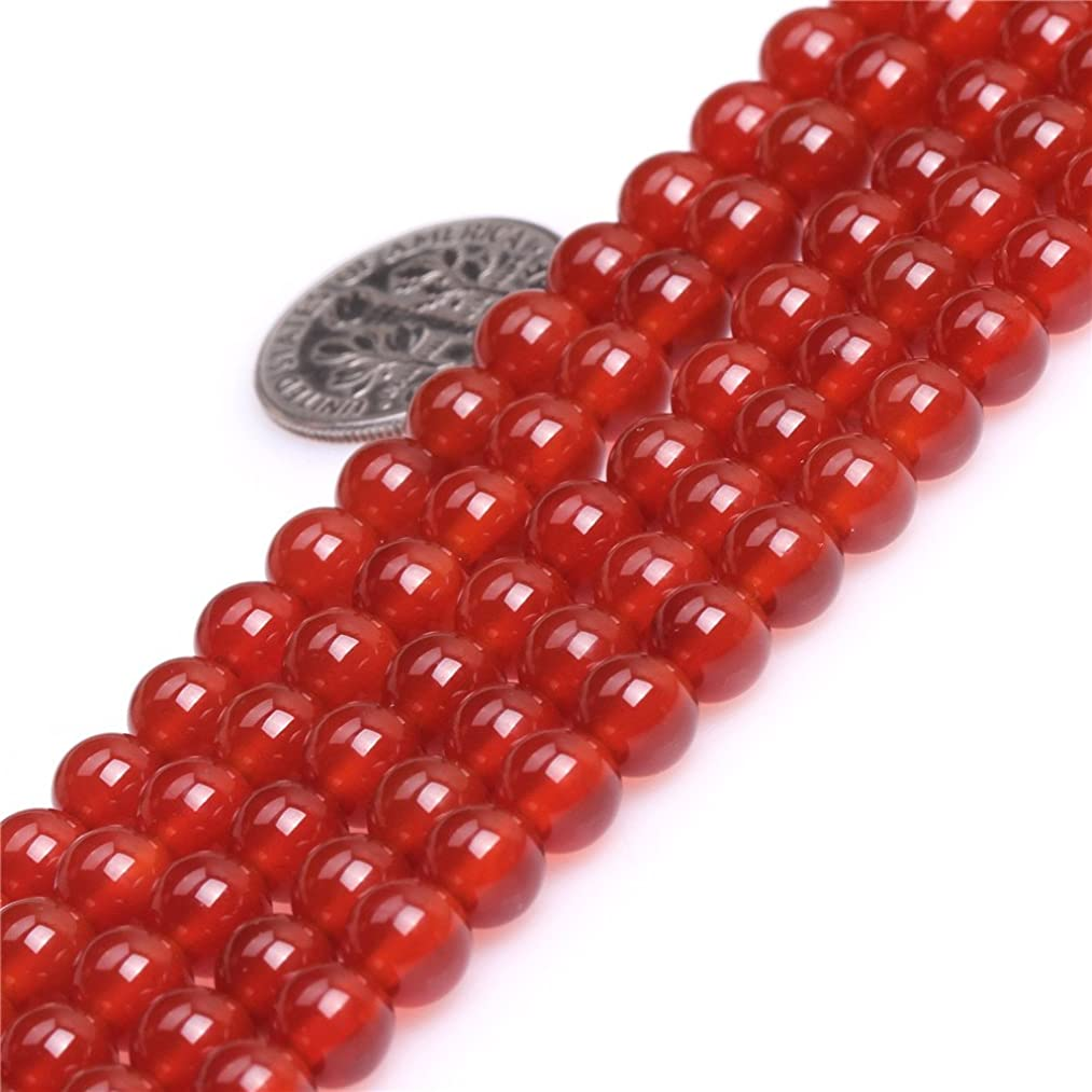 6mm Red Agate Beads for Jewelry Making Natural Semi Precious Gemstone Round Strand 15