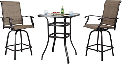 patio furniture bar height table and chairs