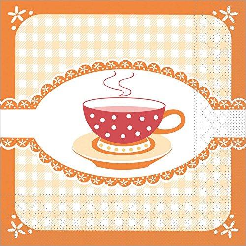 Vlag HORECA | servet Kathrin | oranje | 3-laags tissue 33 x 33 cm | voor ontbijt en verjaardagen | 100 stuks