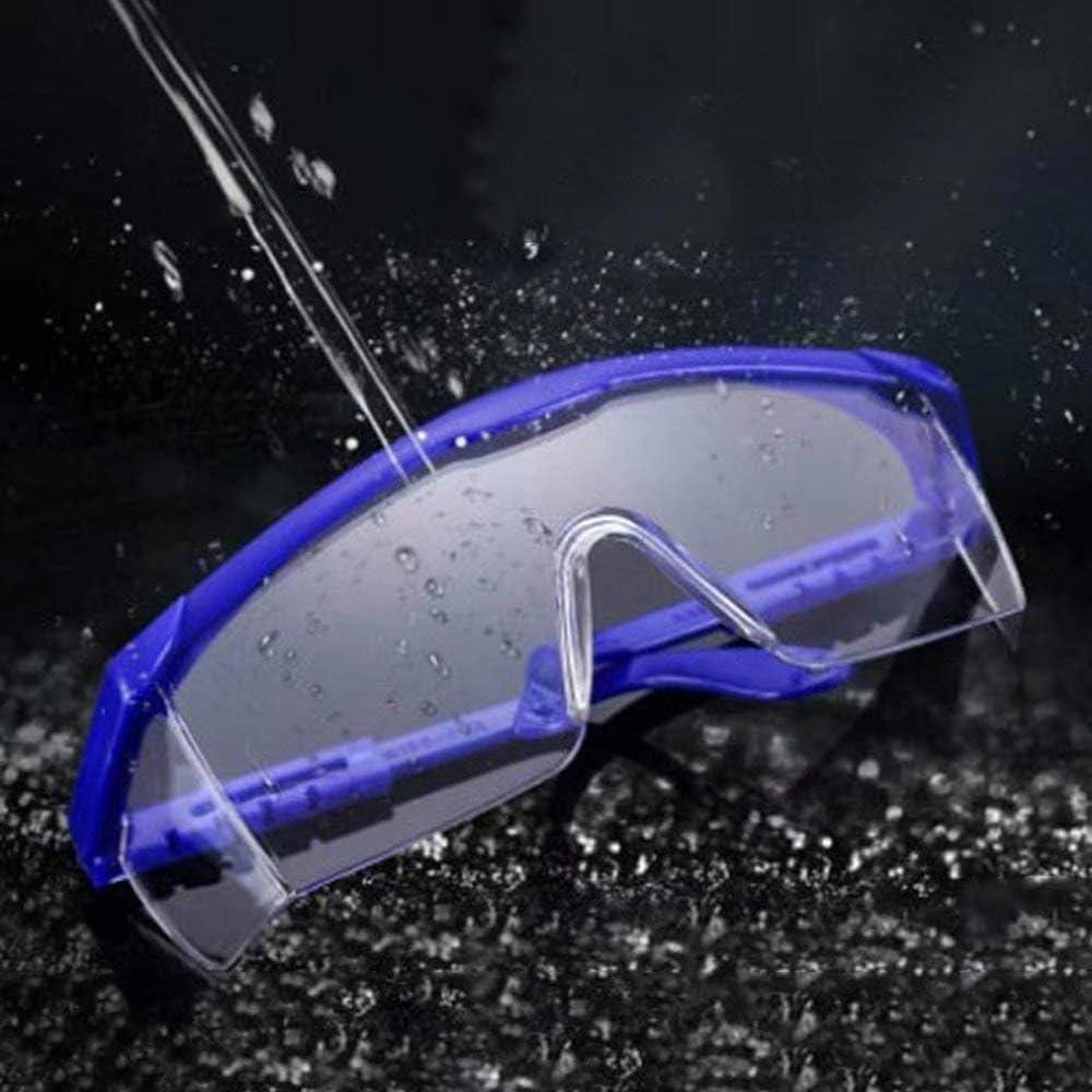 AA-SS Gafas de Seguridad, Seguridad Industrial sobre Gafas - (Lente Transparente) - Patillas Ajustables Individualmente - antivaho, Resistente a los arañazos, protección