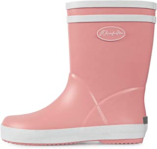 KomForme Matte Color Girl Rubber Rain Boots Waterproof with Handles