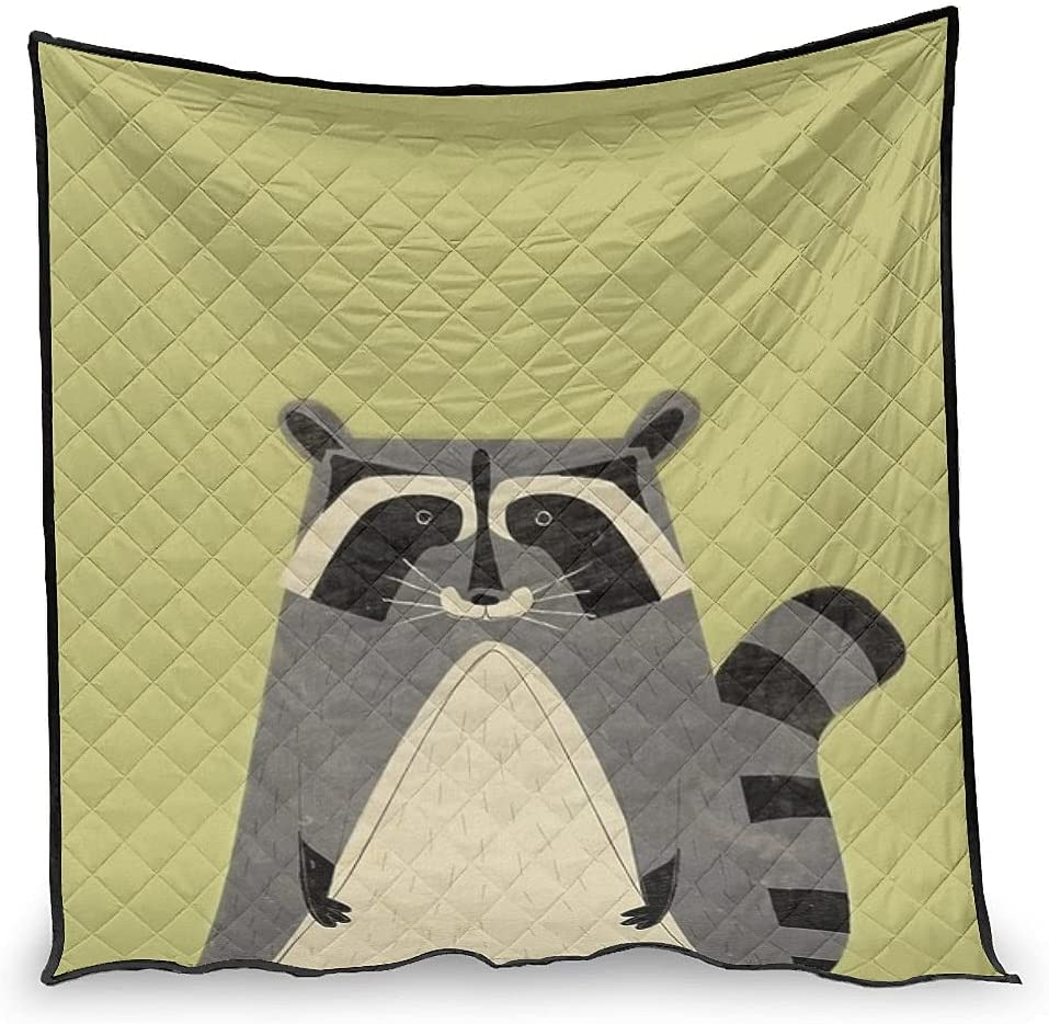price Hiperfay Raccoon Warm Throw Blanket for Bed Bedding Kids Q OFFer Couch