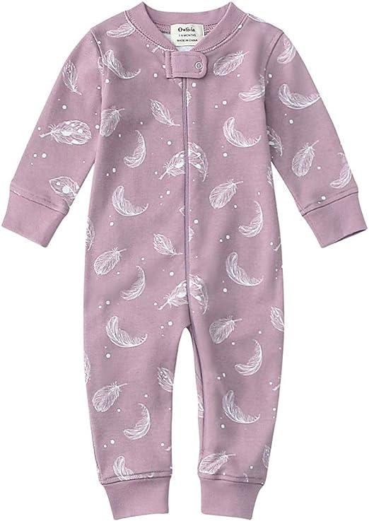 Moon and Back by Hanna Andersson Pyjama en coton bio avec pieds pour tout-petits b/éb/és