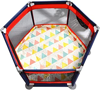 Folding Portable Baby Playpen Toddler Creeping Play Yard with Double-sided Crawling Mat and Ball Kid s Safety Activity Center Fence with Zipper Door and Storage Bag Baby Play Yard