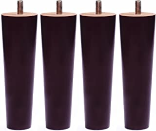 Sweet Melodi Round Solid Wood Furniture Sofa/Chair/Couch/Loveseat/Cabinet Replacement Legs (8 Inches,Set of 4)