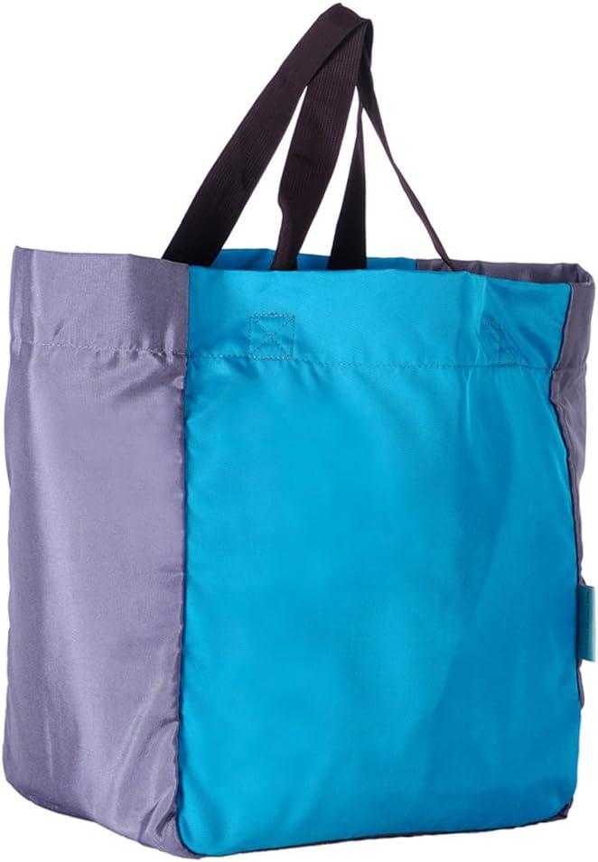 Bleu iSuperb Femme Sac fourre tout pliable grand pour le travail de l/école de voyage en plein air 35x45x25cm