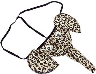 hunpta Elephant Bulge Pouch Mens Elastic T Back Lingerie Thong Underwear Sexy (Brown)