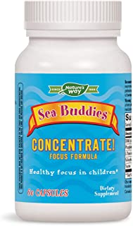 Enzymatic Therapy Sea Buddies Sugar-Free Concentrate! Focus Formula, 60 Vcaps