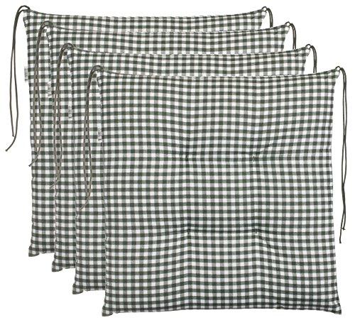 Brandsseller- Cojín para silla de cuadros, acolchado para asiento de