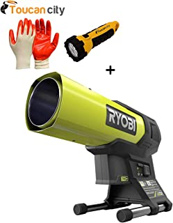 Toucan City Nitrile Dip Gloves with LED Flashlight and Ryobi 18-Volt ONE+ 15K BTU Hybrid Forced Air Propane Heater (Tool Only) P3180