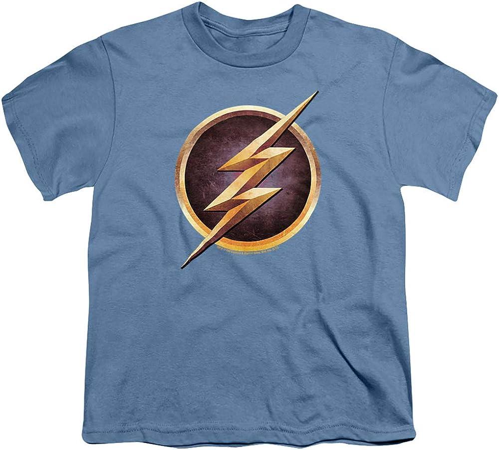 The Flash Chest Logo Unisex Youth T Shirt, Carolina Blue, X-Large