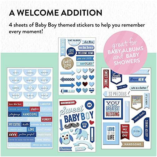 me & my BIG ideas mambiChips Chipboard Stickers - The Happy Planner Scrapbooking Supplies - Baby Boy Theme - Blue… |