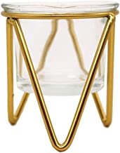 TAOZG Candle Cup Golden Light Luxury Creative Home European Style Wrought Iron Candle Holder Ornaments (Color : Gold, Size...