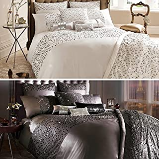 Kylie Minogue Eva Oyster Cream King Size Duvet Cover by Kylie Minogue