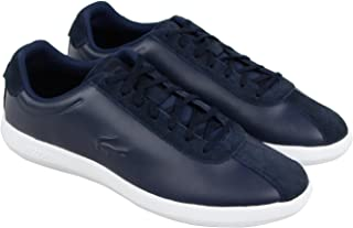 Lacoste Avance 318 2 Spm Mens Blue Leather Lace Up Sneakers Shoes 10 US,Navy & White