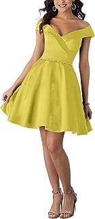 Jonlyc A-Line Off-Shoulder Beaded Short Homecoming Dresses Graduation Party Dress