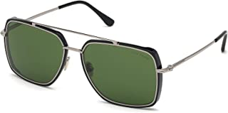 Tom Ford sunglasses Lionel (FT-0750-S 01N) Shiny Black - Palladium - Green lenses