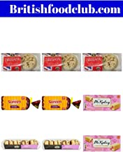 Bundle of 9 total packages - 3 packages of Lakeland Bake Crumpets, 2 packages of Haywood & Padgett Sultana Scones, 2 packages of Mr Kipling Mini Battenbergs and 2 Soreen Sliced Malt Loaf 280g Delivers
