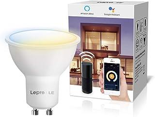 LE Bombillas Inteligentes GU10, Bombilla WiFi Funciona con Alexa y Google Home, Blanco Cálido a Frío, Bombilla LED Regulable, No Requiere Hub(410lm, 4.5W=50W, 2700K-6500K, 2.4GHz WiFi)