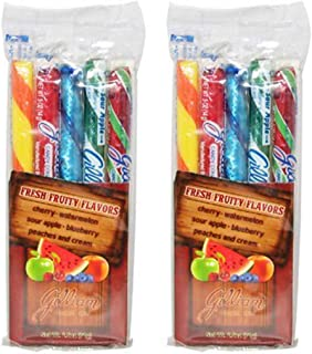 Gilliam Assorted Fruit Old Fashion Hard Candy Sticks - 5 Pack (Origanal, 2-Pack)