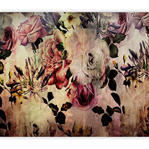 murando Fototapete Blumen 350x256 cm Vlies Tapeten Wandtapete XXL Moderne Wanddeko Design Wand Dekoration Wohnzimmer Schlafzimmer Büro Flur Vintage Rose b-C-0380-a-a