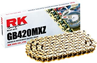RK Racing Chain GB420MXZ-102 Gold 102-Links Heavy Duty Chain with Connecting Link, Package may vary