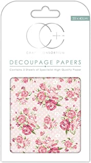 13.75 x 15.75 Craft Consortium Kisses for You Decoupage Papers 3//Pack