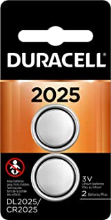 Duracell - 2025 3V Lithium Coin Battery - long lasting battery - 2 count (Packaging May Vary)