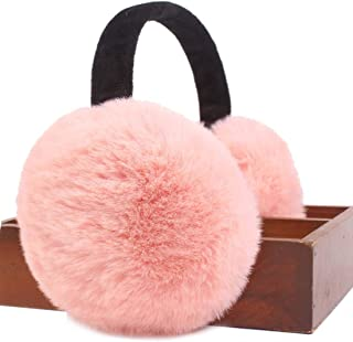Topcoco Imitation Rabbit Fur Ear Warmer Ladies Foldable Warm Winter Earmuffs