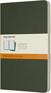 Caderneta Cahier, Moleskine, 8055002855273, Verde Folha, Grande