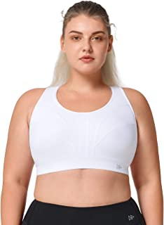 Yvette Women Plus Size High Impact Adjustable Straps Sports Bra