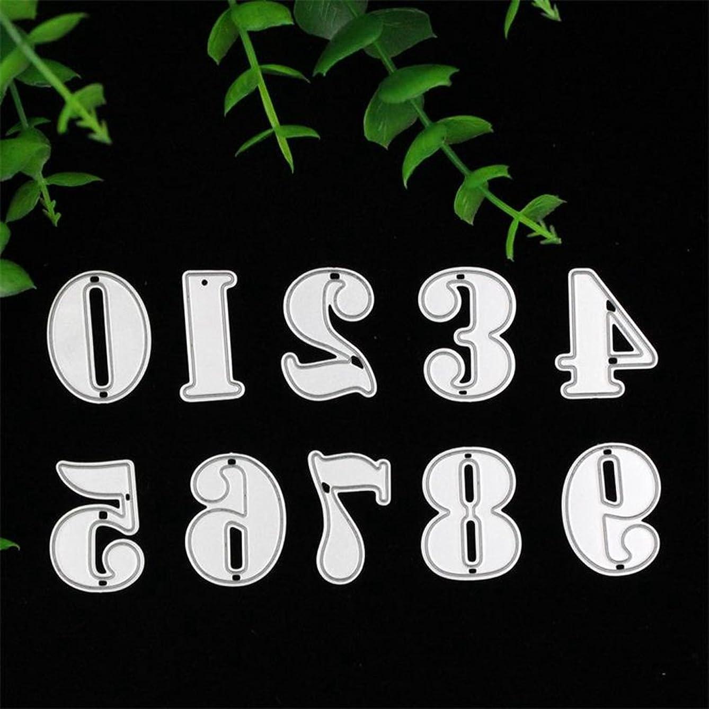 Dies Cut Cutting Die for Cards Making Number Metal Embossing Stencils for DIY Craft Scrapbooking Photo Album Decorative Paper Gift Debossing Border (Dies 11 Number)
