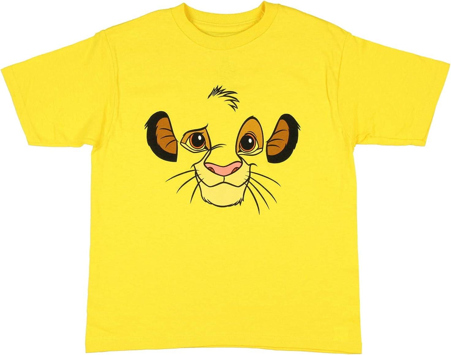 Disney The Lion King Boy's Simba Big Face Graphic T-Shirt
