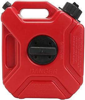 GCDN 3L Gas Tank, Plastik Tragbar Antistatisch Kanister Kraftstofftank mit Halterung Zubehör und Leitung für Motorrad Auto ATV Utv Bootsanhänger