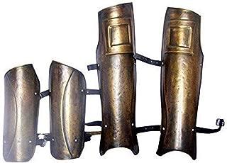 Vintage Armour Gladiator Movie Props Medival Replica Props - Spartan 300 Leg and Arm Guard
