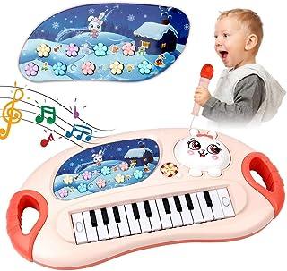 Mini Tudou Piano Toy for Toddler Girls,35 Keys Multifunction