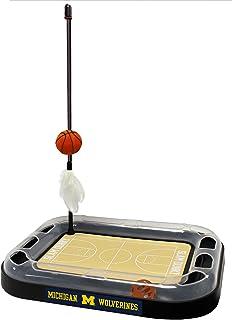 Cat Scratch Toy NCAA Michigan Wolverines Reversible Basketball Court Felt/Cardboard Cat Scratcher Toy. Interactive Cat Bal...