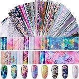 Duufin 200 Hojas Foil para Uñas Transfer Transferencia de Foil de Uñas Pegatinas Foil para Decoración de Arte de Uñas