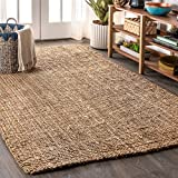 JONATHAN Y Pata Hand Woven Chunky Jute Natural 3 ft. x 5 ft. Area Rug, Bohemian, Easy Cleaning, For Bedroom, Kitchen, Living Room, Non Shedding