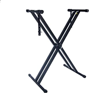 Piano Keyboard Stand with Locking Straps, Double X-Style Adj