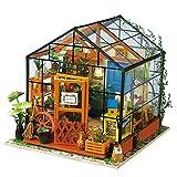 MSK Puppenhaus Treibhaus Modellierung DIY Set Gartenhaus Holz Werkzeugtasche Handgefertigte Gewächshaus Puppe House Spielzeug Dekoration Für Mädchen Und Jungen Geeignet