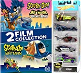 Join forces Scooby-Doo and Mystery, Inc. gang team up with Batman & Robin Cartoon DVD + Hot Wheels 5-Pack Batmobile Heroes & Villains cars set