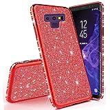 Miagon für Samsung Galaxy Note 9 Glitzer Hülle,Bling Überzug Glänzend Strass Diamant Weich TPU Silikon Handy Hülle Etui Tasche Schutzhülle Case Cover