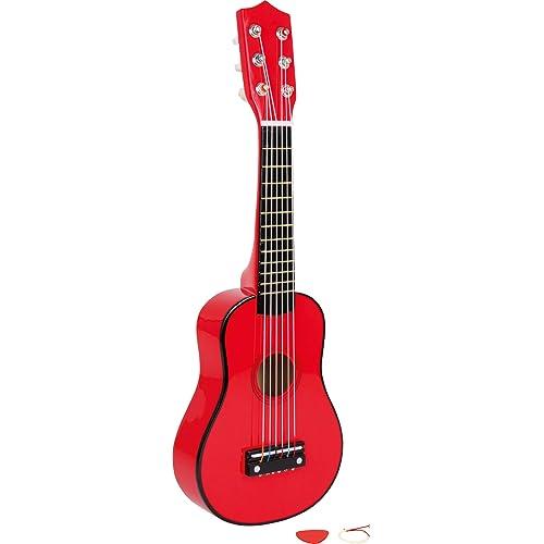 small foot company Guitarra de Madera roja: Amazon.es: Juguetes y ...