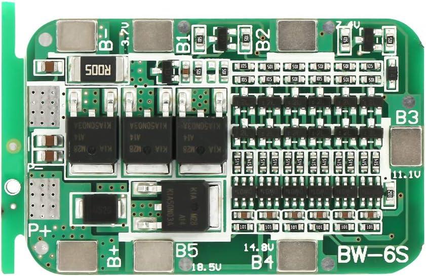 6S 15A 22V 24V Tablero de Protección de Batería PCB BMS Para 18650 Celda de Iones de Litio, Tablero de Protección de Batería de Litio 50 × 32 mm