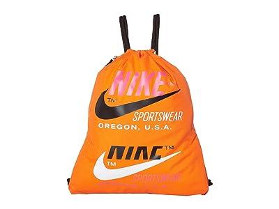 Nike Heritage Gym Sack 2.0 Graphics (Safety Orange/Black/Fire Pink) Bags