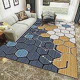 HXJHWB Alfombra Pasillo Cocina Escalera Diseño Moderno - Alfombra de Mosaico Hexagonal Multicolor Simple, Alfombra Duradera Exquisita Interior Moderna-El 160CMx230CM
