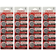 GI 3 Volt 2032 Battery, CR2032 Lithium 3v Coin Cell Watch Battery (20)